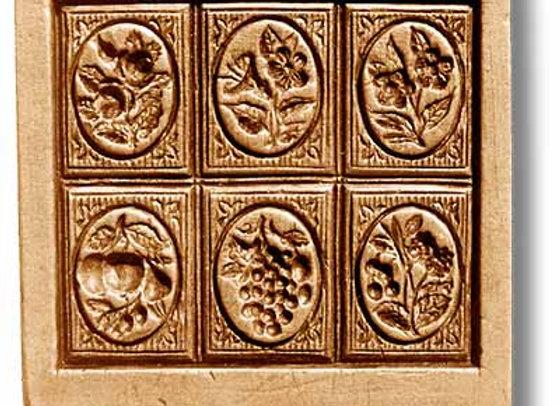 6 Pictures: Rose, Tulip... springerle cookie mold Änis-Paradies 8807