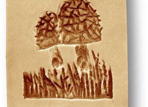 AP2746 Morels Mushrooms springerle cookie mold by Anis-Paradies