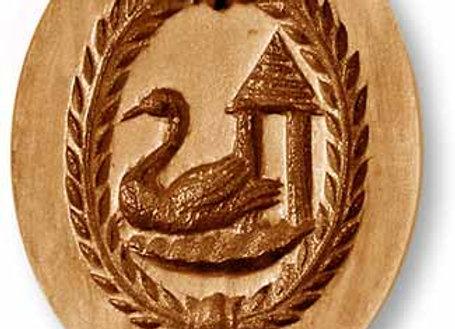 Swan Oval springerle cookie mold by Änis-Paradies 3521