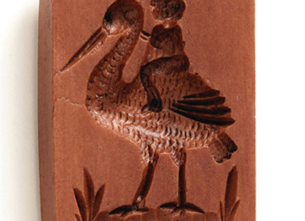 Baby on Stork Springerle Cookie Mold by House on the Hill M5702