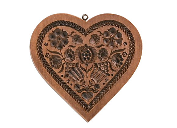 Pomegranate Heart Springerle Cookie Mold  by House on the Hill M5308