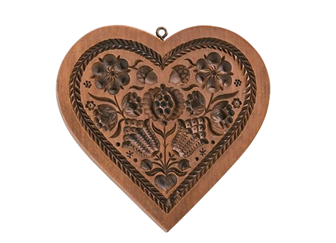 Pomegranate Heart Springerle Cookie Mold By House On The Hill M5308 Springerlecookiemold