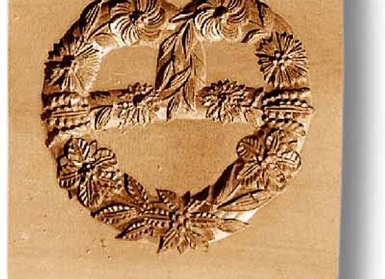 AP 2263 Flower Pretzel Heart springerle cookie mold by Anis-Paradies