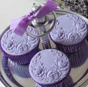 lavender with cupcakes rose swag springe