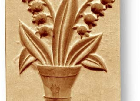 Lilies of the Valley Flower Pot springerle cookie mold by Anis-Paradies 2277