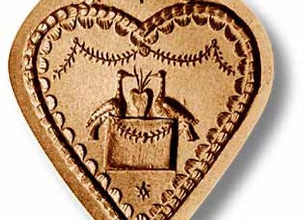AP 5117 Wedding Cake Heart Fine springerle cookie mold by Änis-Paradies