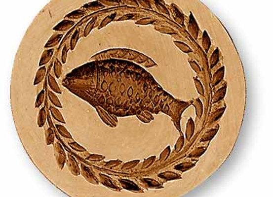 AP 3383 Fish small round springerle cookie mold by Änis-Paradies