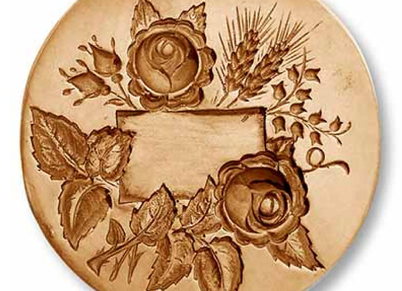 AP 2283 Bouquet Name Tag springerle cookie mold by Anis-Paradies