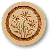 2386 three edelweiss springerle cookie m