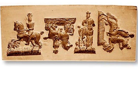4 Pictures: Assorted Riders springerle cookie mold by Änis-Paradies 8843