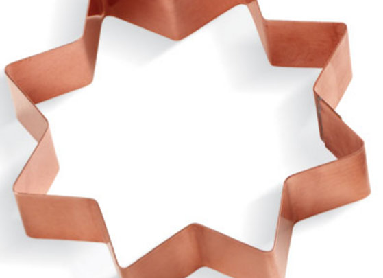 C - 1039 Eight Pointed Flower Star copper cookie cutter C1039
