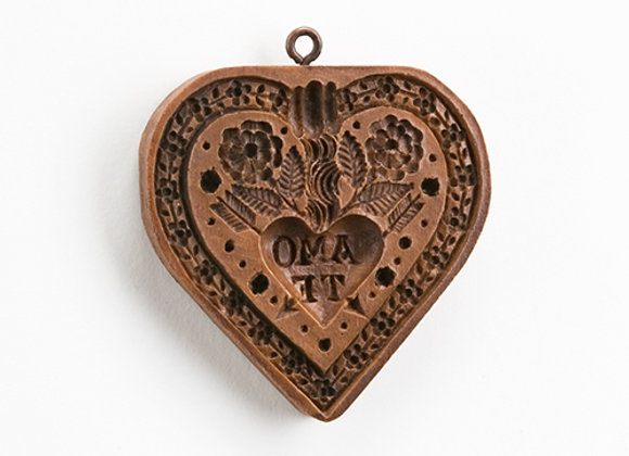 Amo Te Heart Springerle Cookie Mold  by House on the Hill M5518