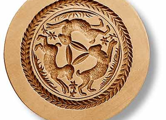 AP 1142 The Three Hares springerle cookie mold by Anis-Paradies 1142