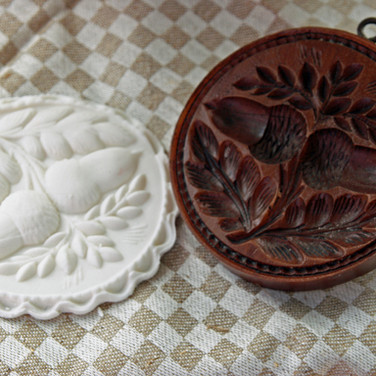 double acorn springerle cookie mold