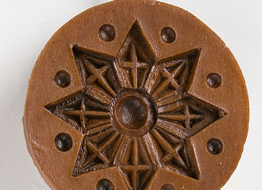 Snow Star Springerle Cookie Mold  by House on the Hill M5099