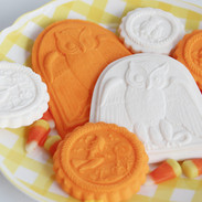 springerle cookie molds owl witch 6331