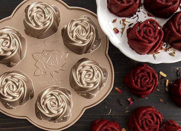 Rose Buds  Cakelet Baking Pan by Nordic Ware 85148