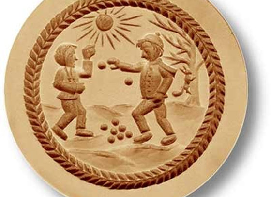 AP1211 Snowball Fight springerle cookie mold by Anis-Paradies