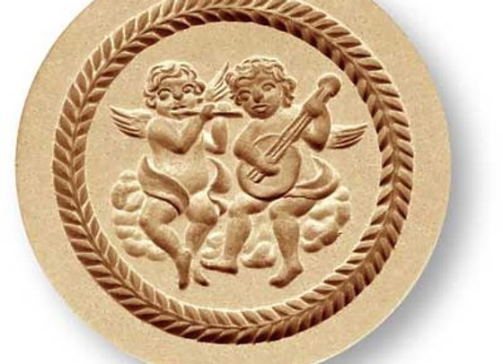 AP 1159 Two Angels playing Music springerle cookie mold by Anis-Paradies