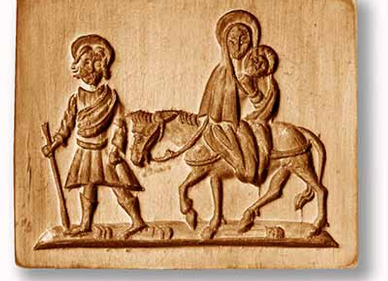 AP 1129 Flight into Egypt, low relief springerle cookie mold by Anis-Paradies