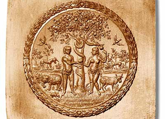 Adam and Eve springerle cookie mold by Anis-Paradies 1900