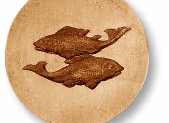 Zodiac Pisces Fish springerle cookie mold by Anise Paradise 9339