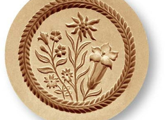 Alpen Flowers springerle cookie mold by Anis-Paradies 2387