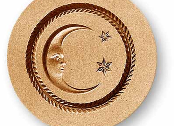 Moon with two stars Springerle Cookie Mold  by Anise Paradise 7129