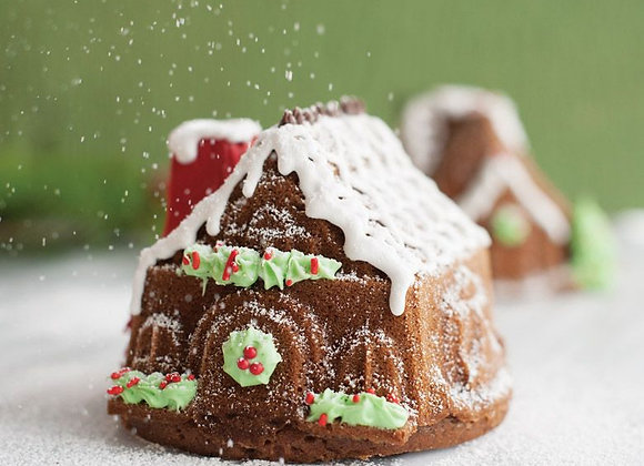NW86748 Gingerbread House Duet Bundt Cake Pan by Nordic Ware