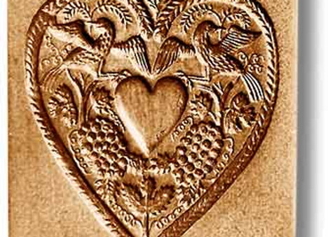 AP 5134 Heart for Engraving springerle cookie mold by Anis-Paradies