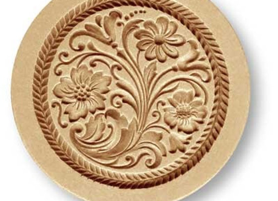 AP 2261 Floral Ornament springerle cookie mold by Anis-Paradies
