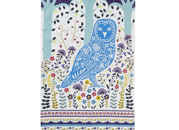 022WOW Woodland Owl Cotton Tea Towel by Ulster Weavers 022WOW