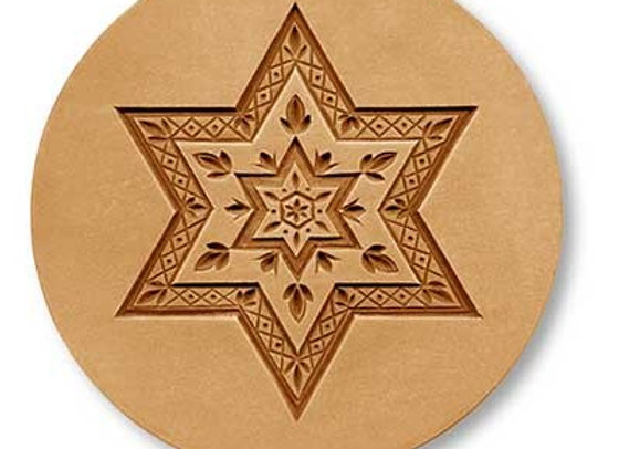 1691 Star within a Star springerle cookie mold by Anis-Paradies