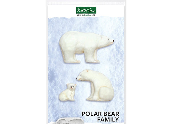 CE0115 Polar Bear Family ornaments silicone mold by Katy Sue Designs