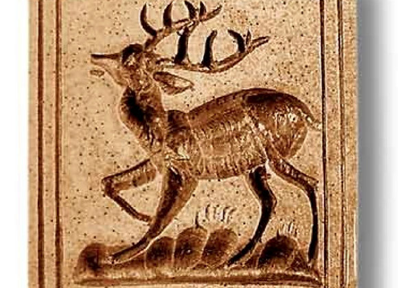 Deer with Dashed Border springerle cookie mold by Anis-Paradies 3515