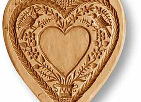 5108 Love Heart for Personalization springerle cookie mold by Anise Paradise
