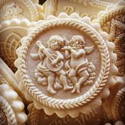 1159 Cherubs Angels springerle cookie mo