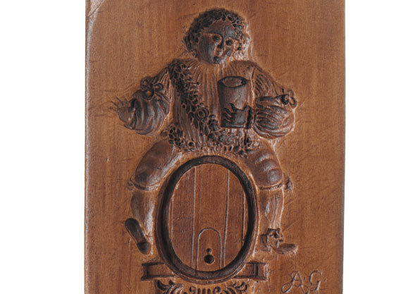 King Bacchus Vive le Roy Springerle Cookie Mold  by House on the Hill M7916