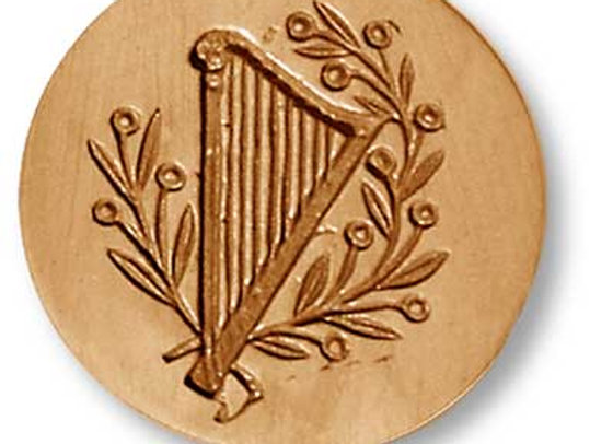 Harp music springerle cookie mold by Anise Paradise 6827