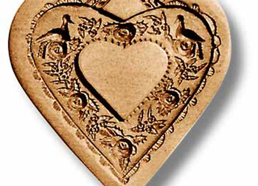 5118 Heart with Rose Wreath springerle cookie mold by Änis-Paradies
