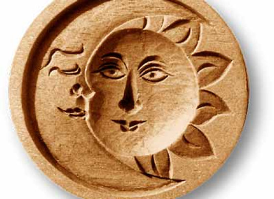 Sun and Moon Springerle Cookie Mold  by Anise Paradise 7202