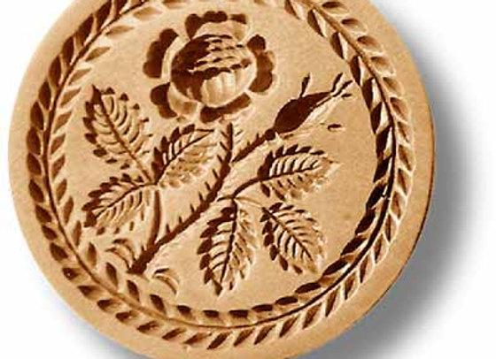 AP 2211 Rose in Leaf Wreath Border springerle cookie mold by Anis-Paradies