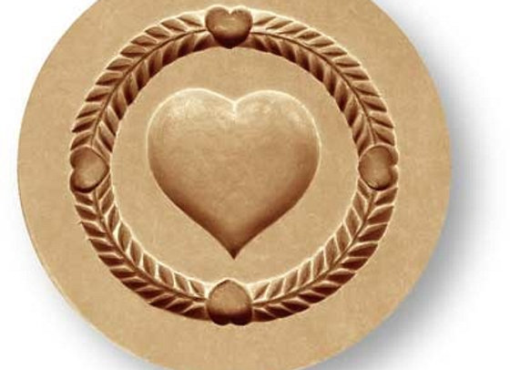 Simple Heart springerle cookie mold by Anise Paradise 5128