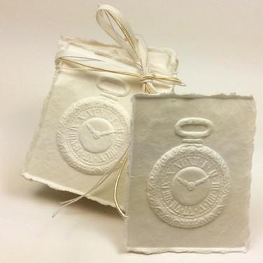 paper pocket watch springerle cookie mol