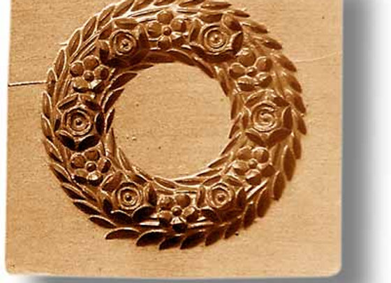 2015 Wreath with Six Roses springerle cookie mold by Anise Paradise