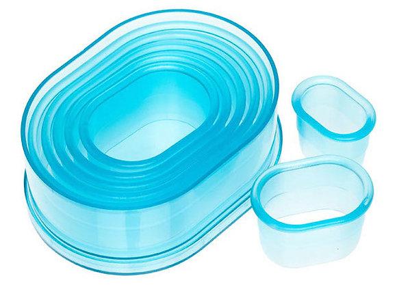 7 Piece Plain Oval Cutter Set