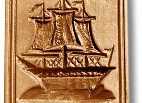 Three Masted Ship springerle cookie mold by Anis-Paradise 04707