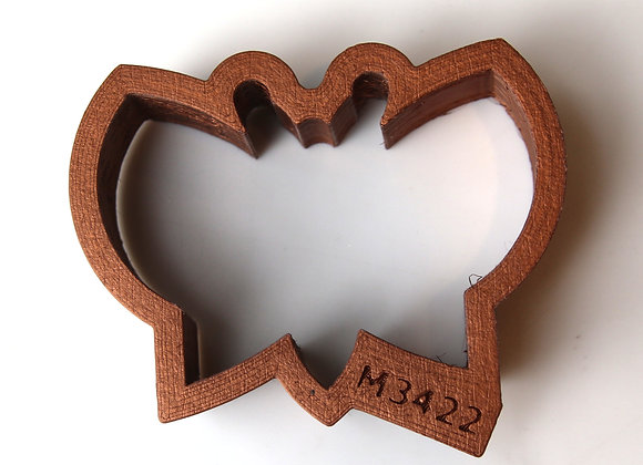 C - 3422 Butterfly Shaped Cookie Cutter by Gingerhaus APC3422