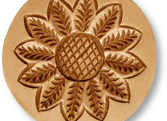 Sunflower springerle cookie mold by Anise Paradise 02270