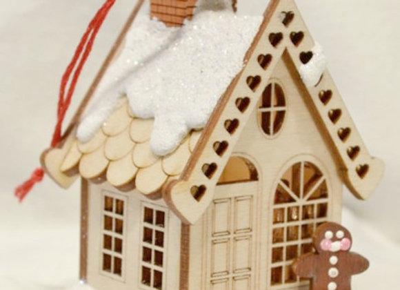 Ginger Cottage Wooden Ornament by TRC Ginger Cottages